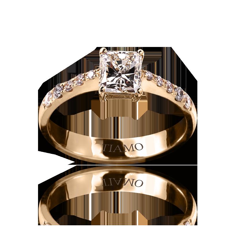 серьги желтое золото с бриллиантами